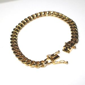 7mm Cuban Miami Link Chain Bracelet Electroplated